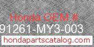Honda 91261-MY3-003 genuine part number image