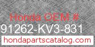 Honda 91262-KV3-831 genuine part number image