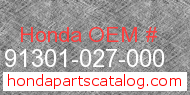 Honda 91301-027-000 genuine part number image