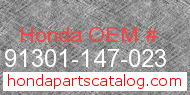 Honda 91301-147-023 genuine part number image