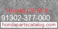 Honda 91302-377-000 genuine part number image
