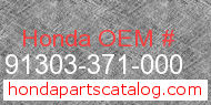 Honda 91303-371-000 genuine part number image