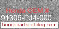 Honda 91306-PJ4-000 genuine part number image