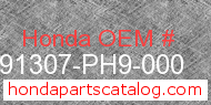 Honda 91307-PH9-000 genuine part number image