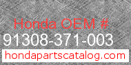 Honda 91308-371-003 genuine part number image