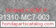 Honda 91310-MC7-003 genuine part number image