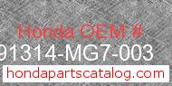 Honda 91314-MG7-003 genuine part number image