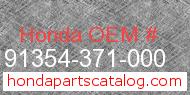 Honda 91354-371-000 genuine part number image
