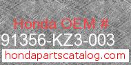 Honda 91356-KZ3-003 genuine part number image