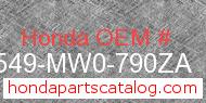 Honda 91549-MW0-790ZA genuine part number image