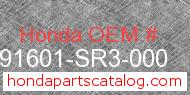 Honda 91601-SR3-000 genuine part number image