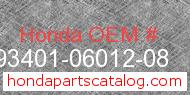 Honda 93401-06012-08 genuine part number image