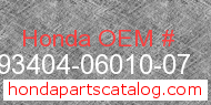 Honda 93404-06010-07 genuine part number image