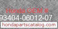Honda 93404-06012-07 genuine part number image