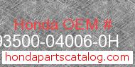 Honda 93500-04006-0H genuine part number image