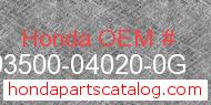 Honda 93500-04020-0G genuine part number image