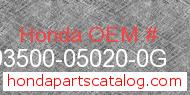 Honda 93500-05020-0G genuine part number image