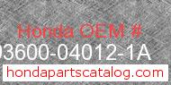 Honda 93600-04012-1A genuine part number image