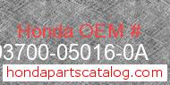 Honda 93700-05016-0A genuine part number image