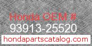 Honda 93913-25520 genuine part number image
