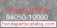 Honda 94050-10000 genuine part number image