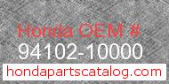 Honda 94102-10000 genuine part number image