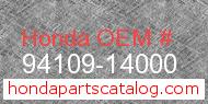 Honda 94109-14000 genuine part number image