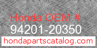 Honda 94201-20350 genuine part number image