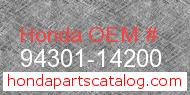 Honda 94301-14200 genuine part number image