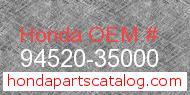 Honda 94520-35000 genuine part number image
