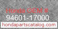 Honda 94601-17000 genuine part number image