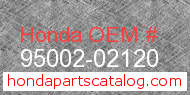 Honda 95002-02120 genuine part number image