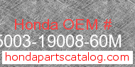 Honda 95003-19008-60M genuine part number image