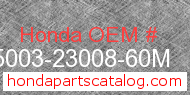 Honda 95003-23008-60M genuine part number image