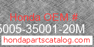 Honda 95005-35001-20M genuine part number image