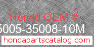 Honda 95005-35008-10M genuine part number image