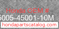 Honda 95005-45001-10M genuine part number image