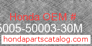 Honda 95005-50003-30M genuine part number image