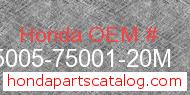 Honda 95005-75001-20M genuine part number image