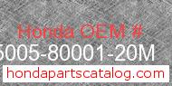Honda 95005-80001-20M genuine part number image