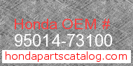 Honda 95014-73100 genuine part number image