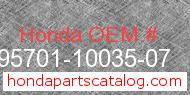 Honda 95701-10035-07 genuine part number image