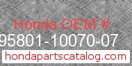 Honda 95801-10070-07 genuine part number image