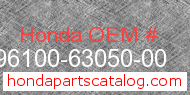 Honda 96100-63050-00 genuine part number image