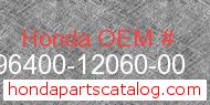 Honda 96400-12060-00 genuine part number image