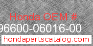 Honda 96600-06016-00 genuine part number image