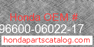 Honda 96600-06022-17 genuine part number image