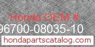 Honda 96700-08035-10 genuine part number image