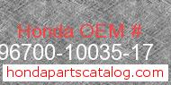 Honda 96700-10035-17 genuine part number image