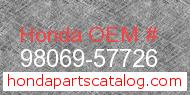 Honda 98069-57726 genuine part number image